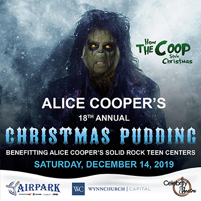 Alice Coopers Christmas Pudding 2020 Annual Christmas Pudding Show | Alice Cooper Solid Rock
