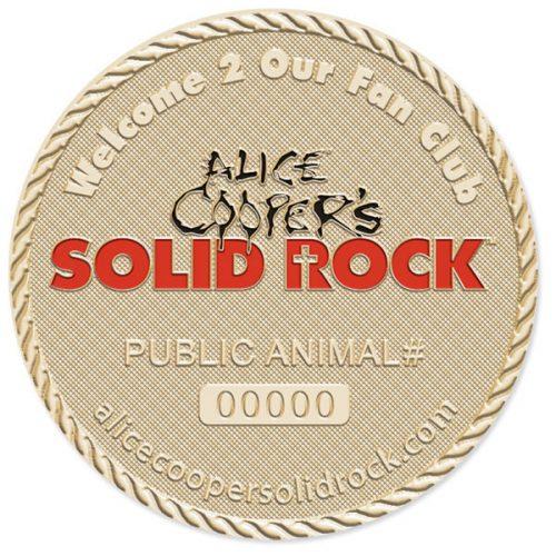 Alice Cooper Fan Medallion Back